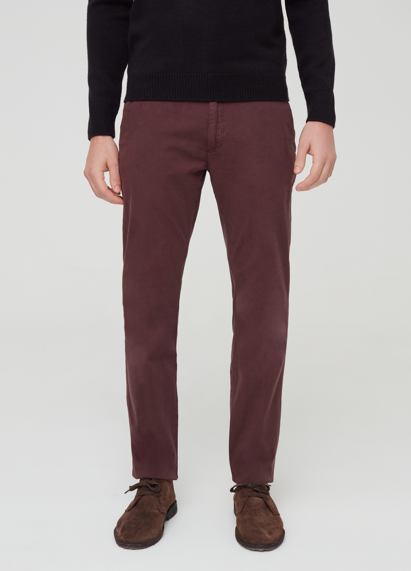 Pantaloni chino in cotone stretch image number null