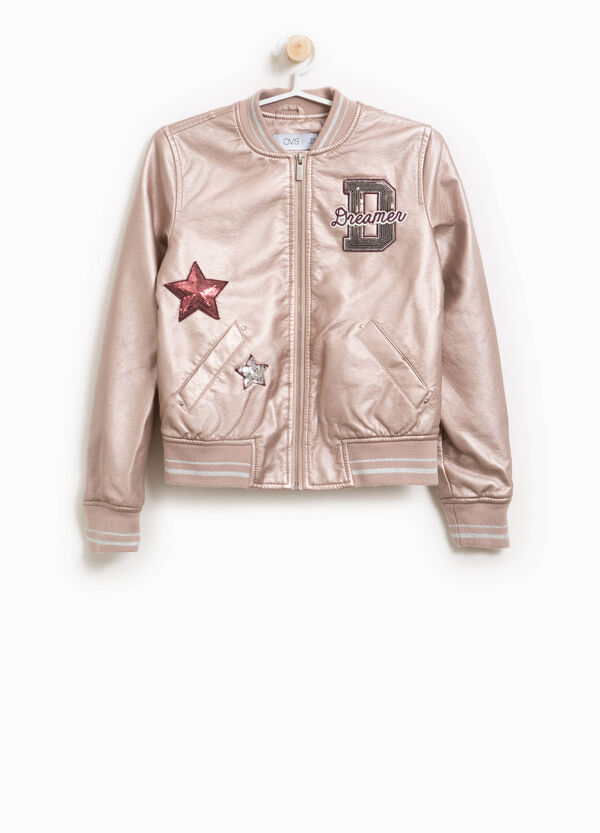 Bomber in viscosa con patch e glitter | OVS