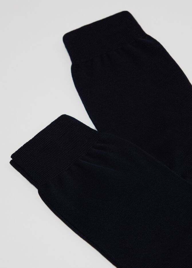 Two-pair pack plain knit short socks in 100% cotton