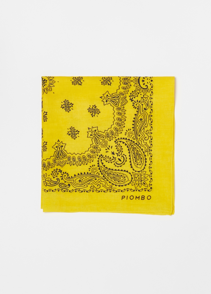 PIOMBO paisley cotton scarf image number null