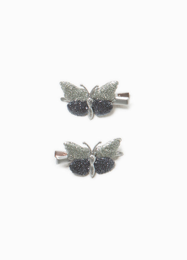 Two-pack hair clips with butterfly | OVS