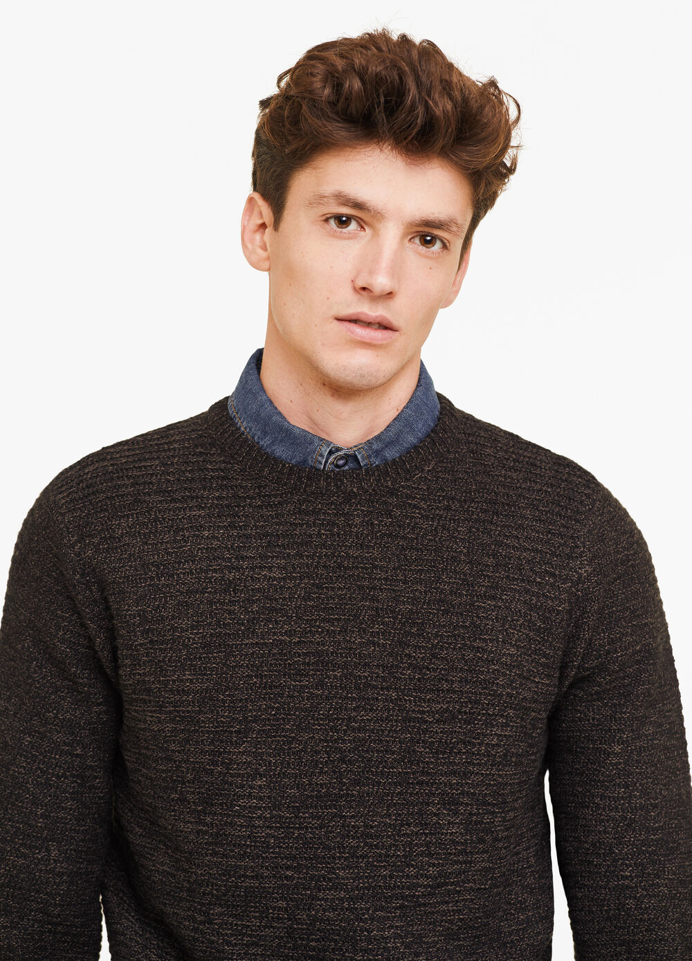 Mélange knitted pullover