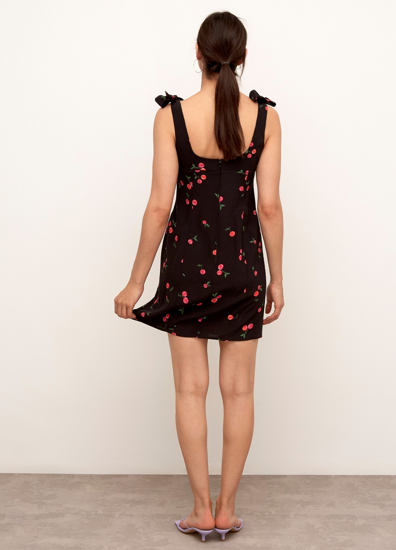 Nobody's Child mini dress with tied shoulder straps image number null