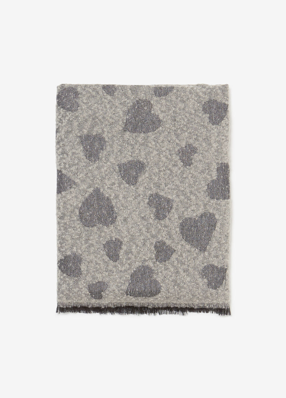 Jacquard scarf with heart design