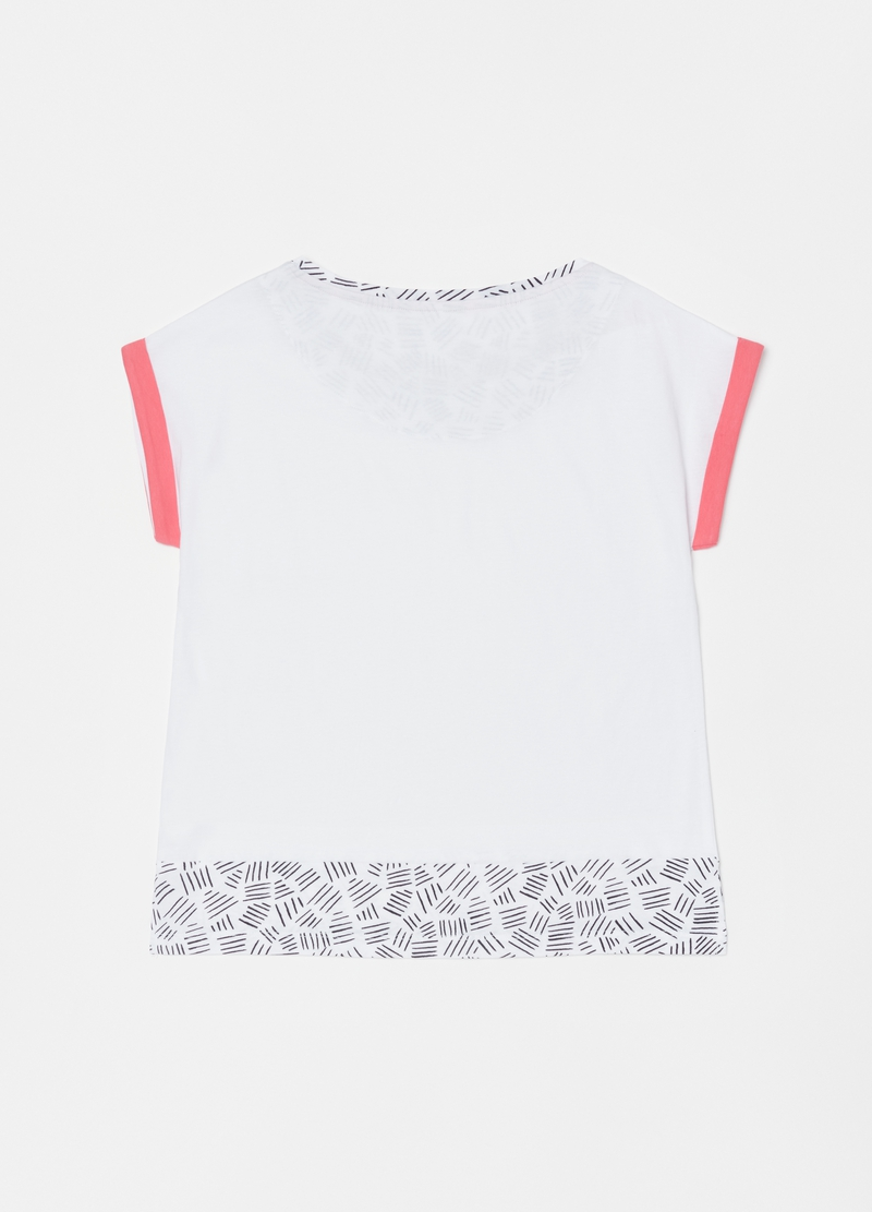 Pyjama top in 100% cotton with print image number null