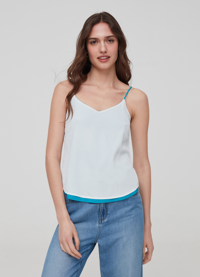 Double-sided tank top with V neck image number null