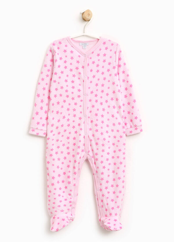 Velour sleepsuit with stars | OVS