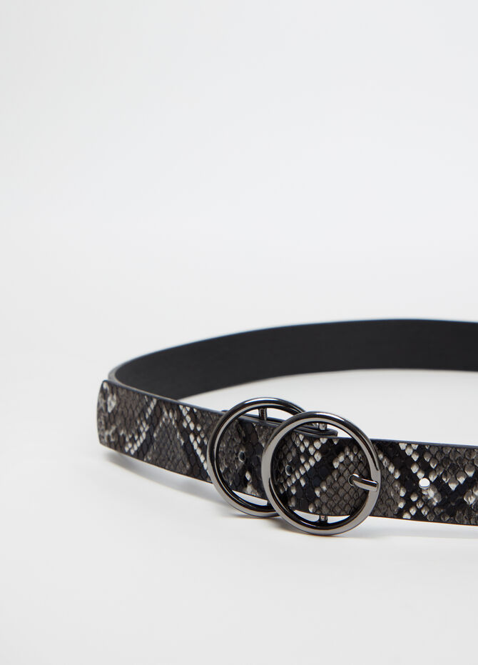 Belt with double circular buckle