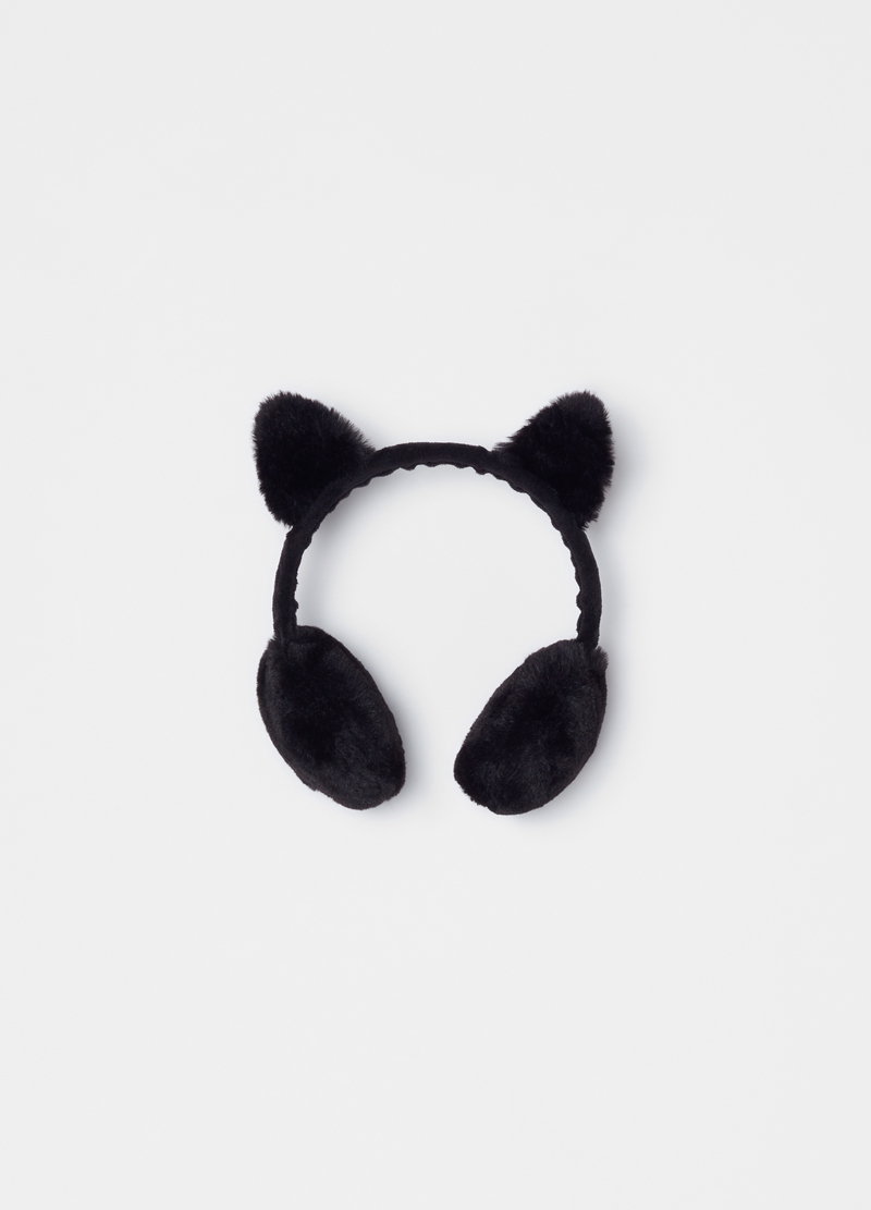 Faux fur ear muffs Alice band image number null