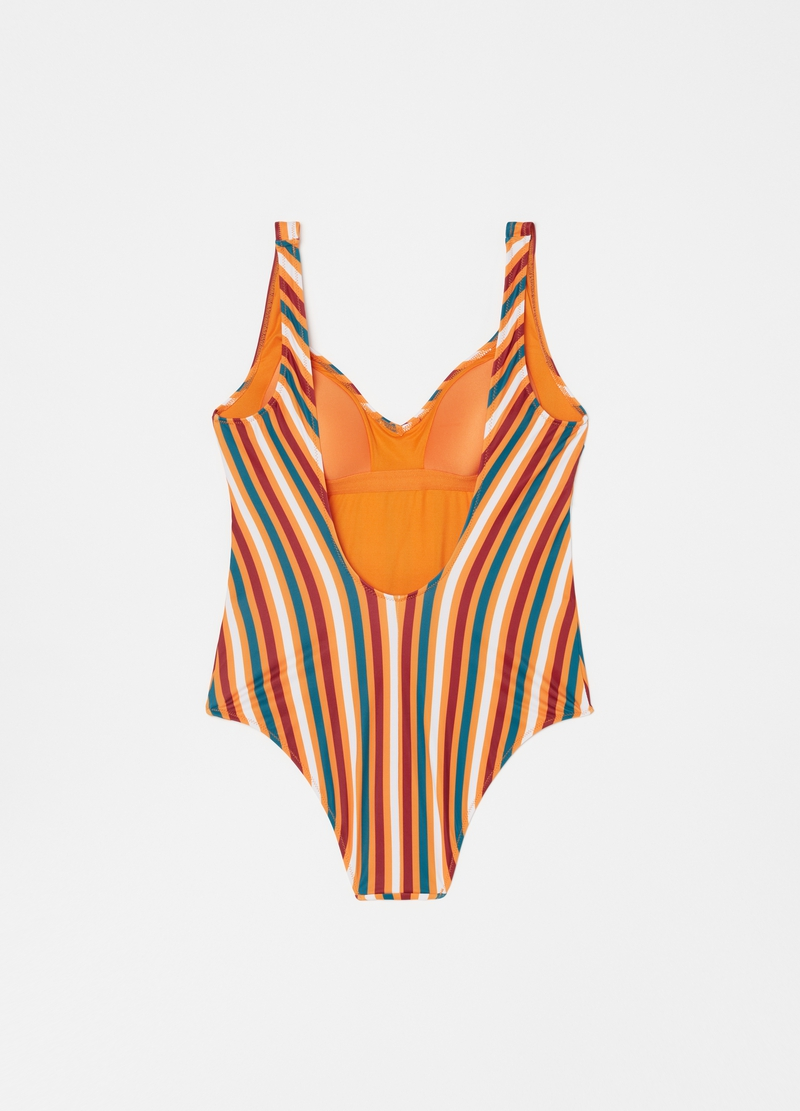 Swimsuit with striped print image number null