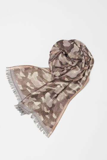 Pashmina with camouflage patterned lurex