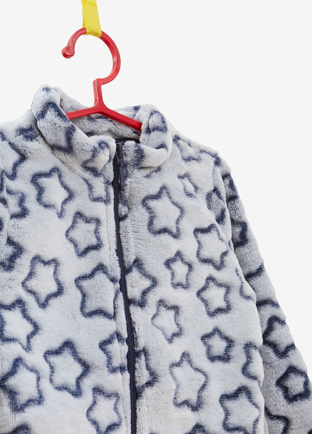 Sweatshirt with high neck and star pattern