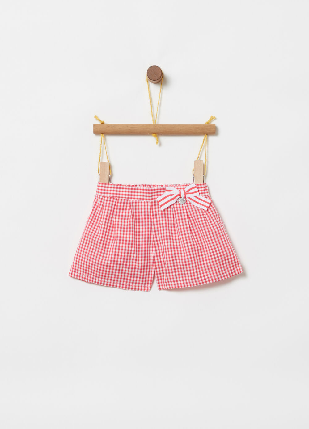 ***Better Cotton Initiative vichy skirt pants with bow