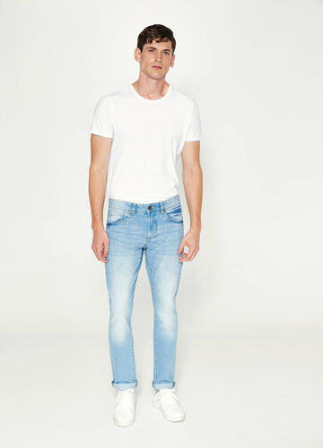 Jeans straight fit effetto used