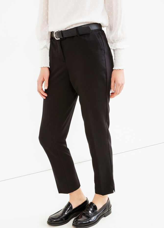 Pantaloni con piega viscosa stretch