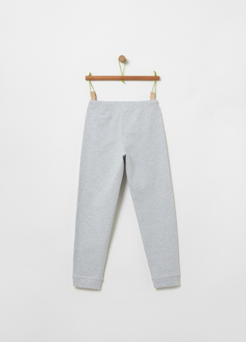 Cotton and viscose mélange joggers image number null