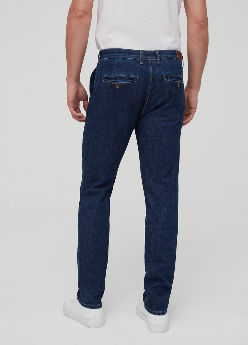 Solid colour stretch jeans image number null