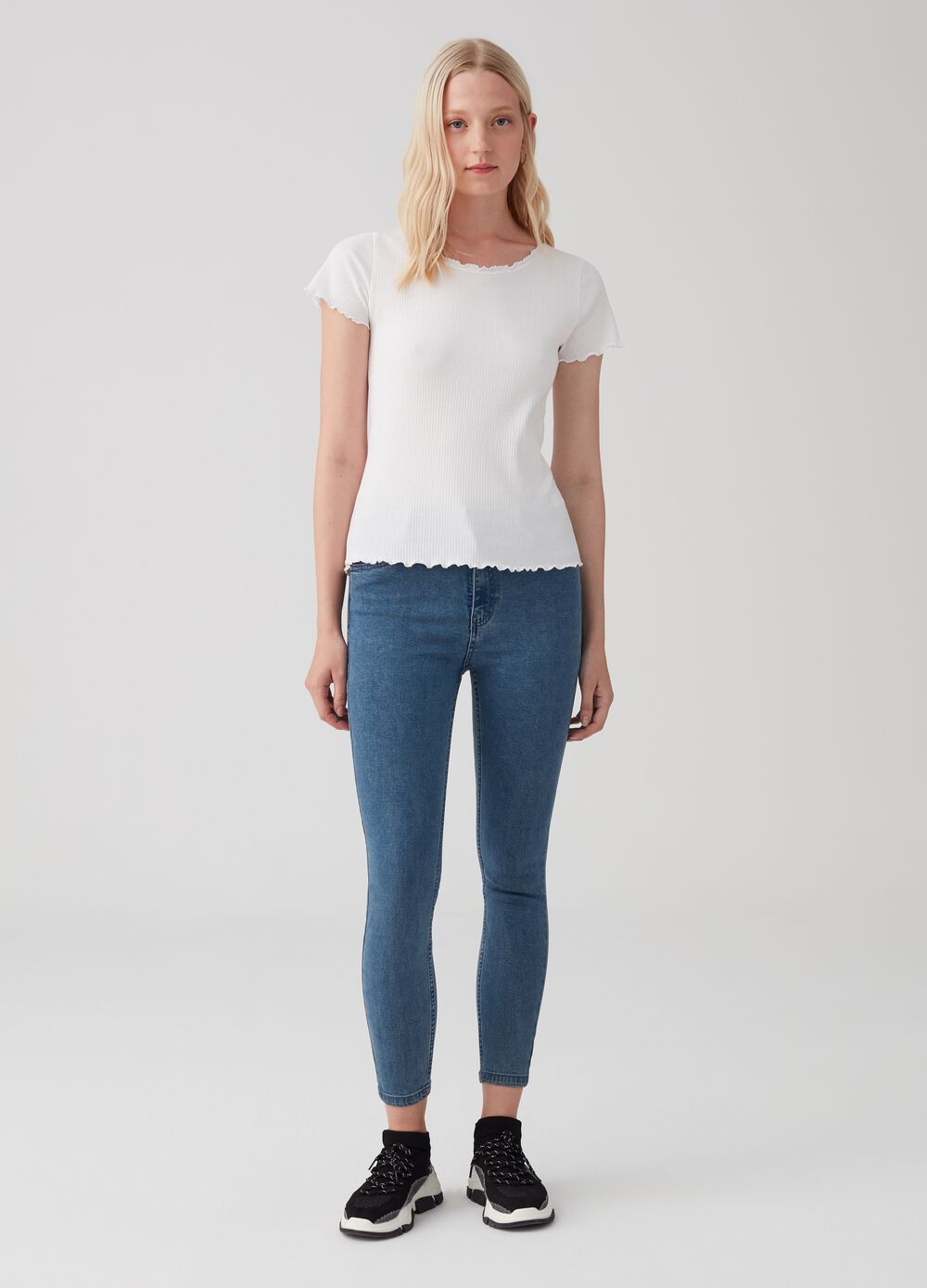 Soft touch superskinny-fit stretch jeans