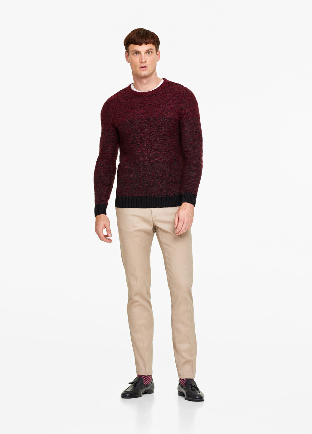 Peached cotton twill trousers