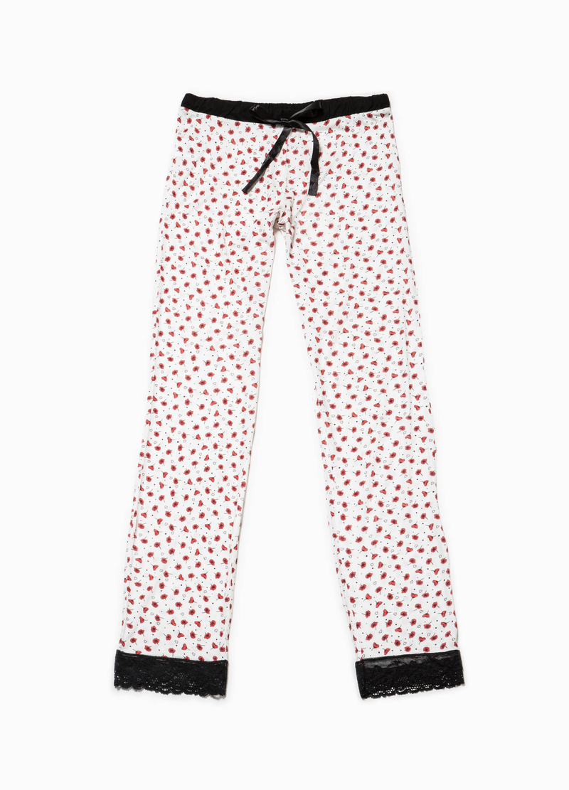 Pantaloni pigiama con stampa all-over image number null