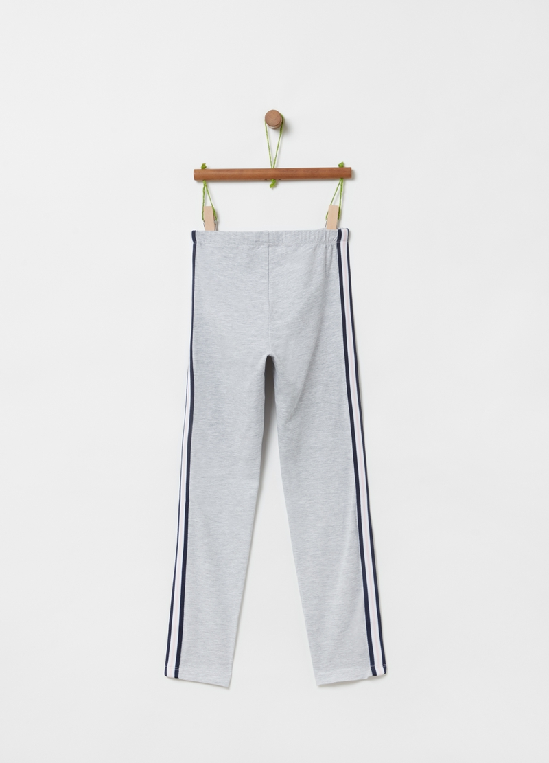 Stretch organic cotton mélange leggings image number null
