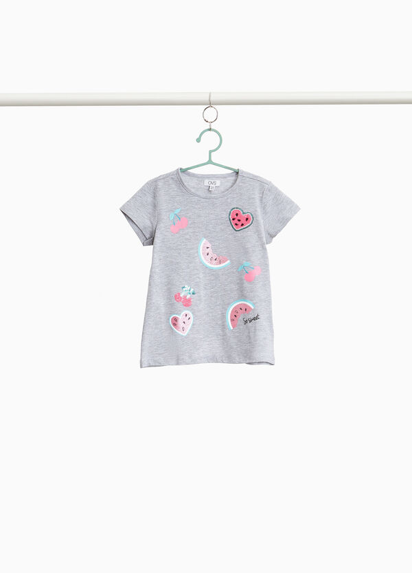 100% cotton T-shirt with fruit print
