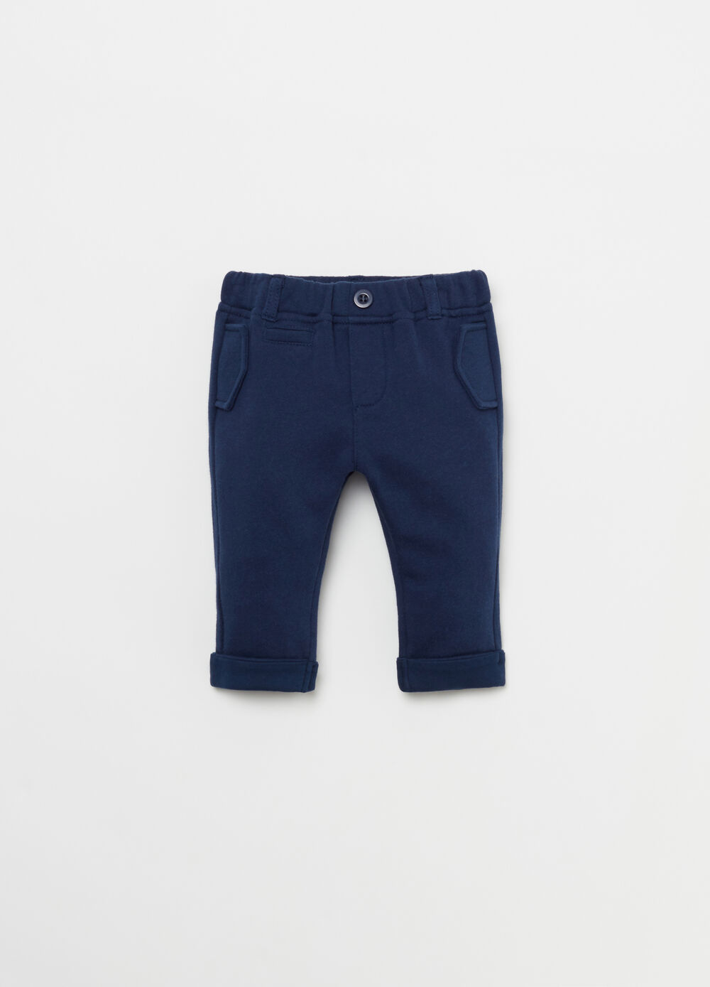 BCI 100% cotton trousers with turn-ups