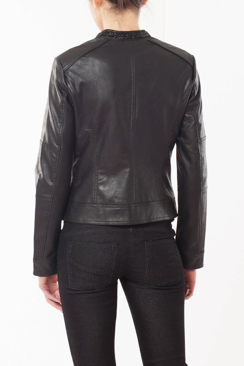 Faux leather jacket image number null
