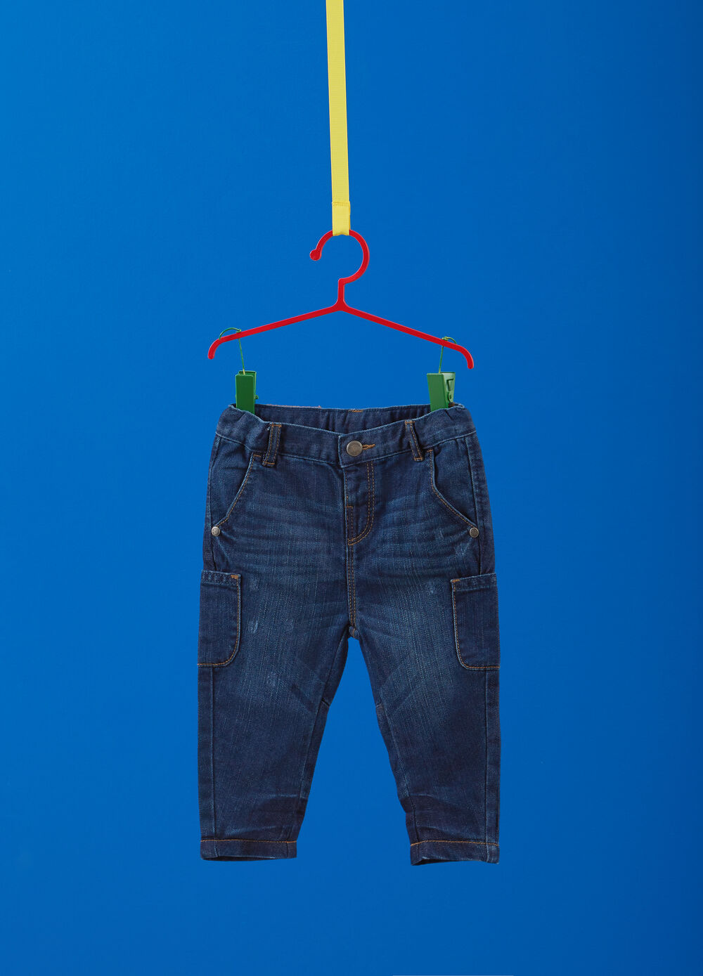 Regular-fit used jeans with elasticated waist