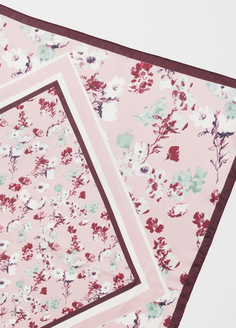 Foulard con stampa fantasia floreale image number null