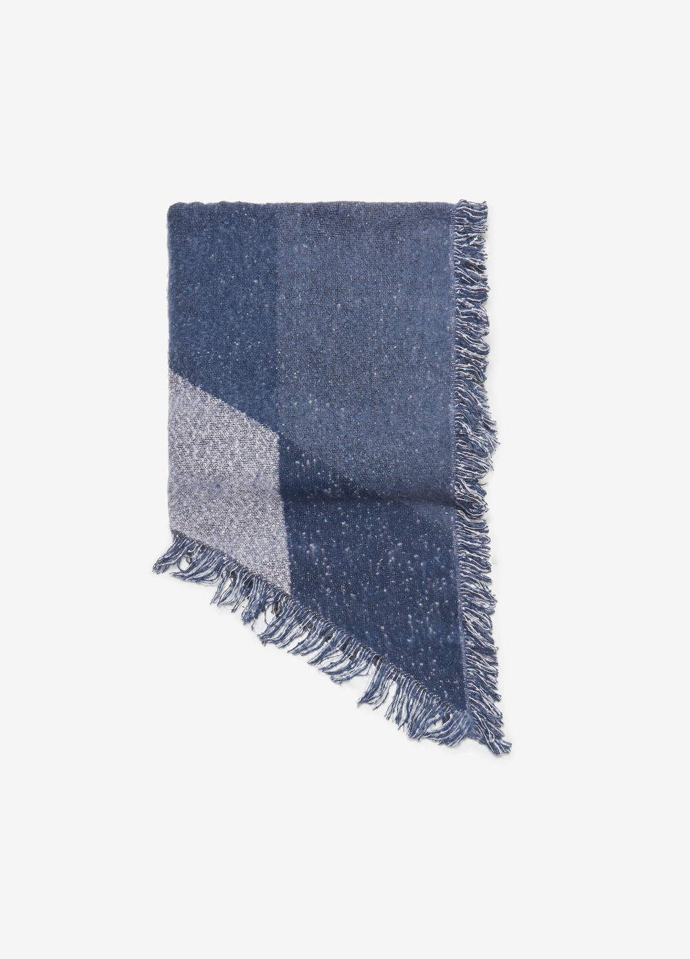 Rectangular maxi scarf with check pattern
