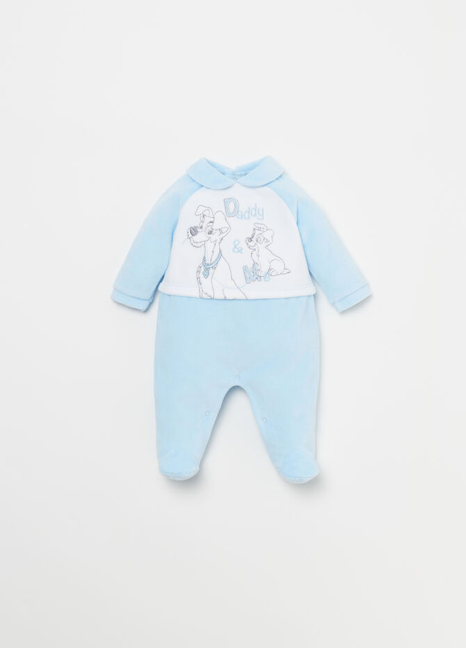 Tutina in velour ricami Disney Baby