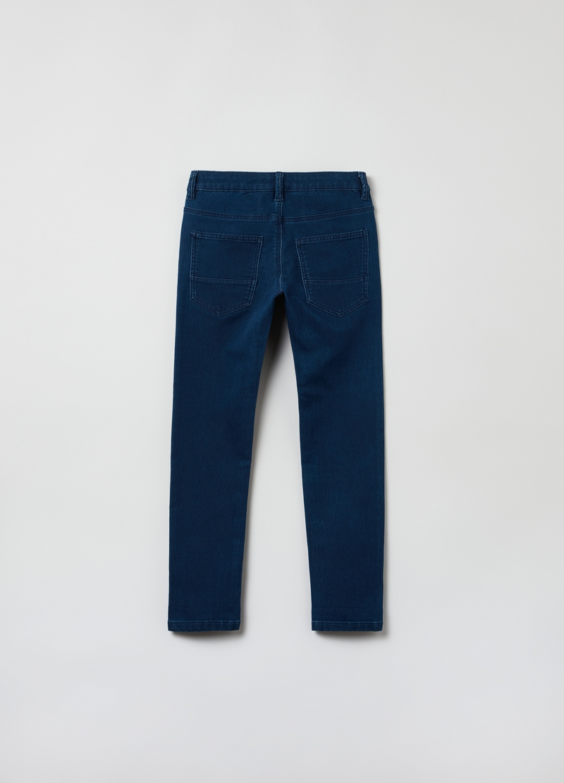 Pantaloni slim fit in French Terry denim image number null