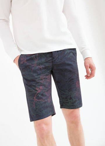 100% cotton floral Bermuda shorts