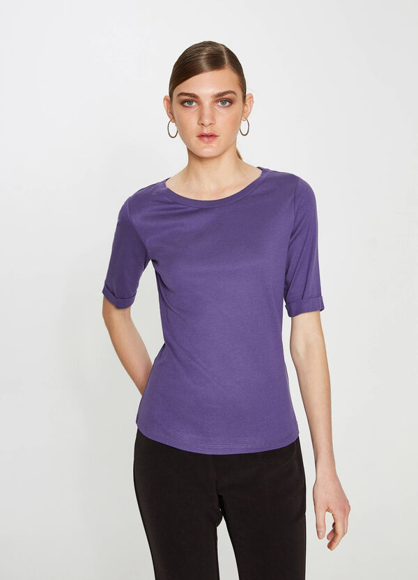 T-shirt with elbow-length sleeves | OVS