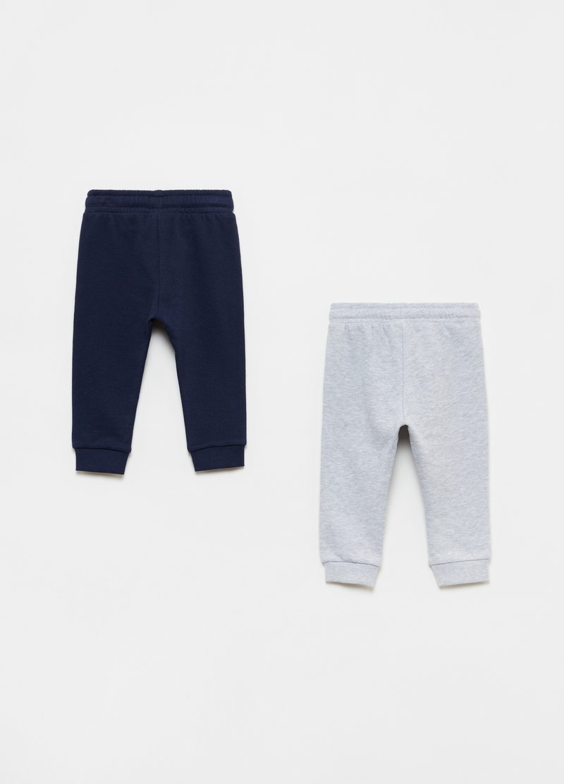 Bipack joggers in cotone bio image number null