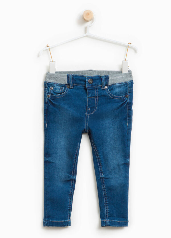 Stretch jeans with ribbing | OVS