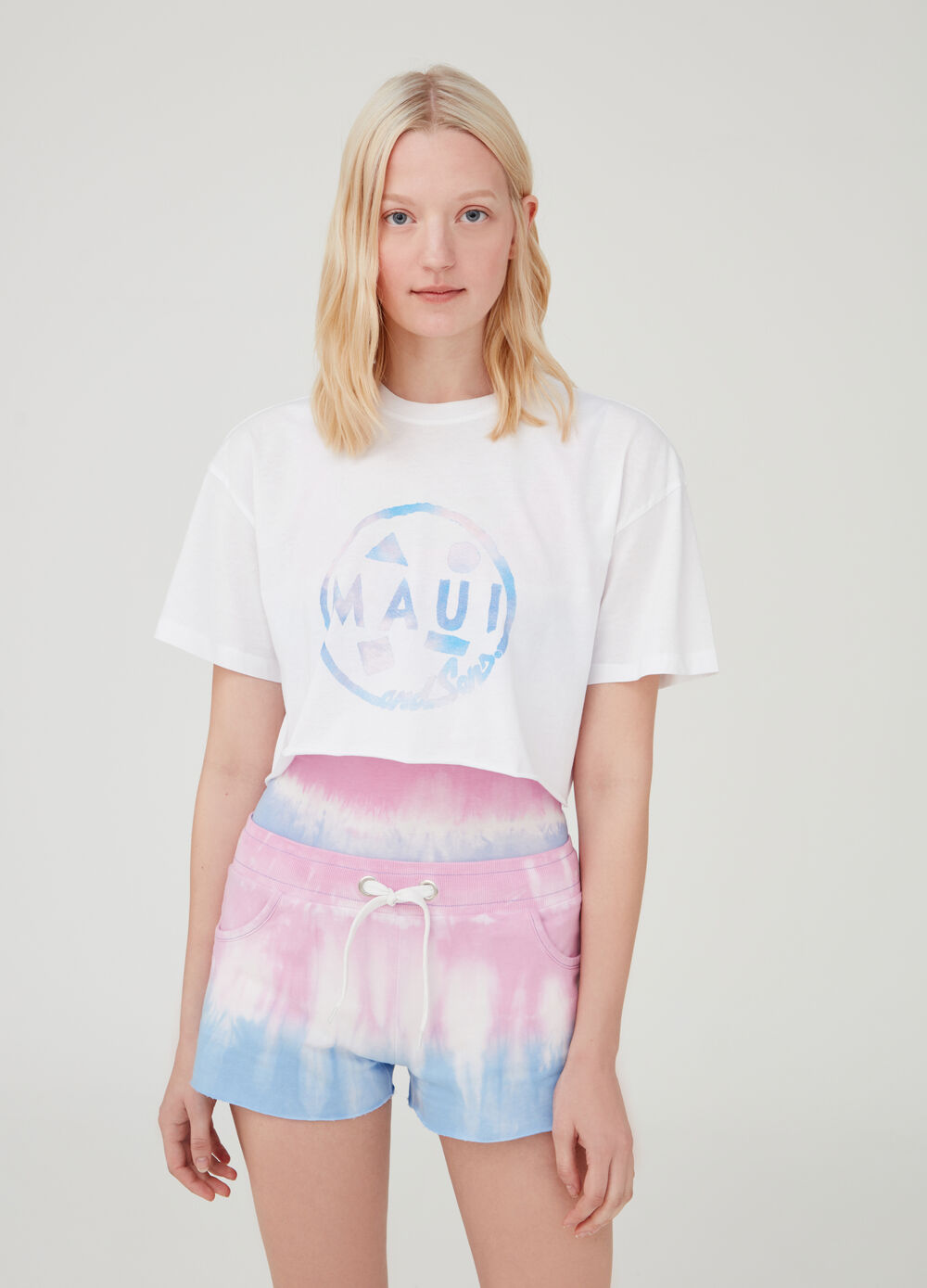 100% cotton crop T-shirt by Maui and Sons