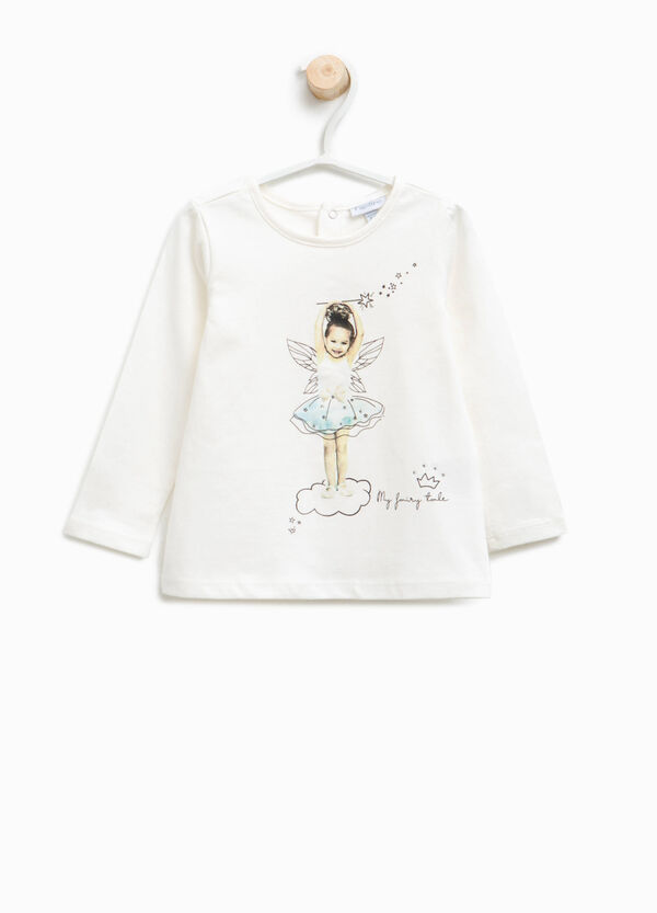 T-shirt with fairy print and diamantés | OVS
