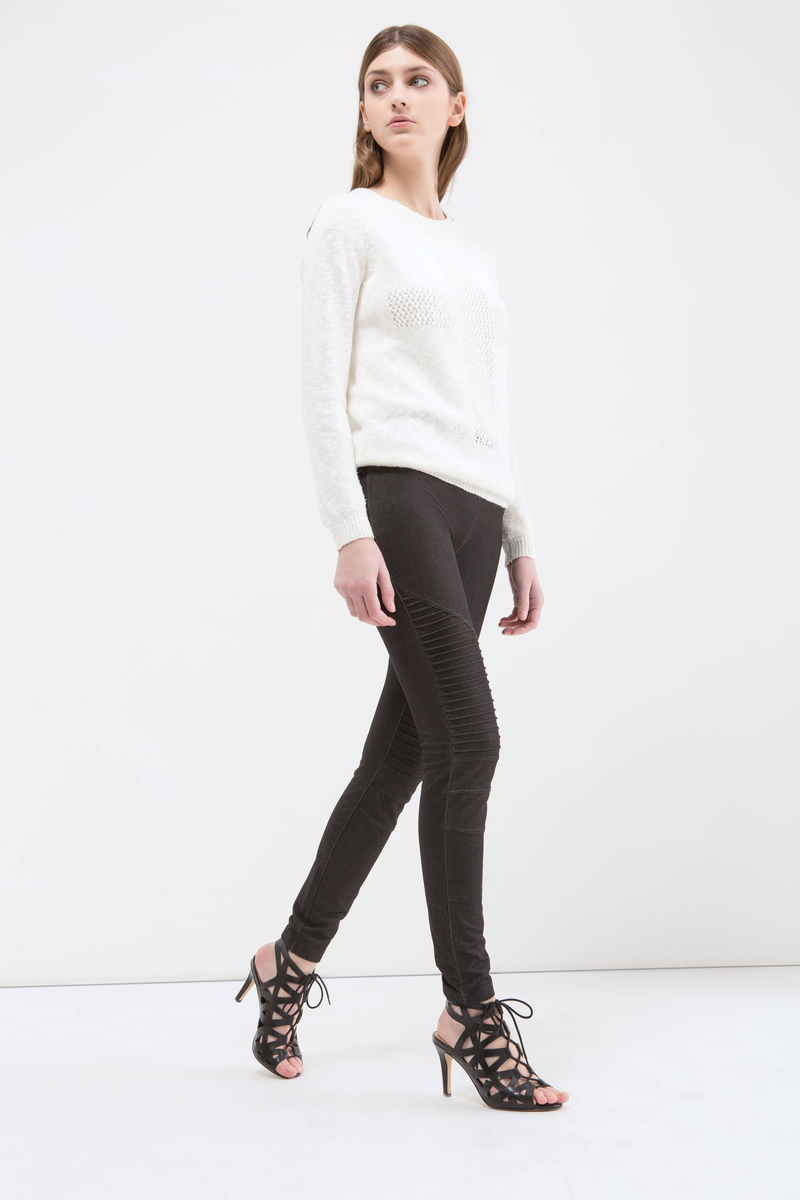 Jeggings regular waist cotone stretch image number null