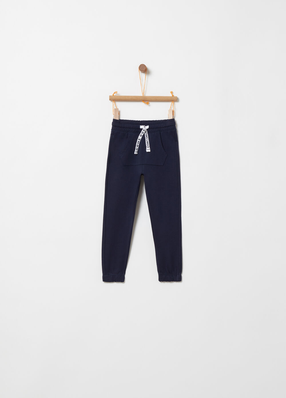 Trousers with customisable drawstring