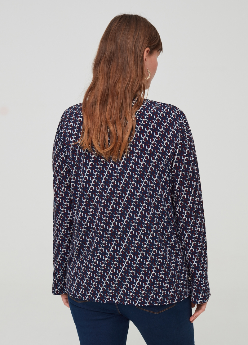 Curvy T-shirt with geometric pattern image number null
