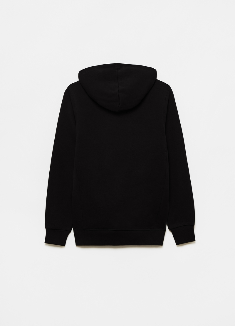Solid colour 100% cotton full-zip sweatshirt image number null