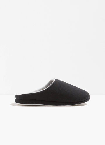 Canvas jersey slippers
