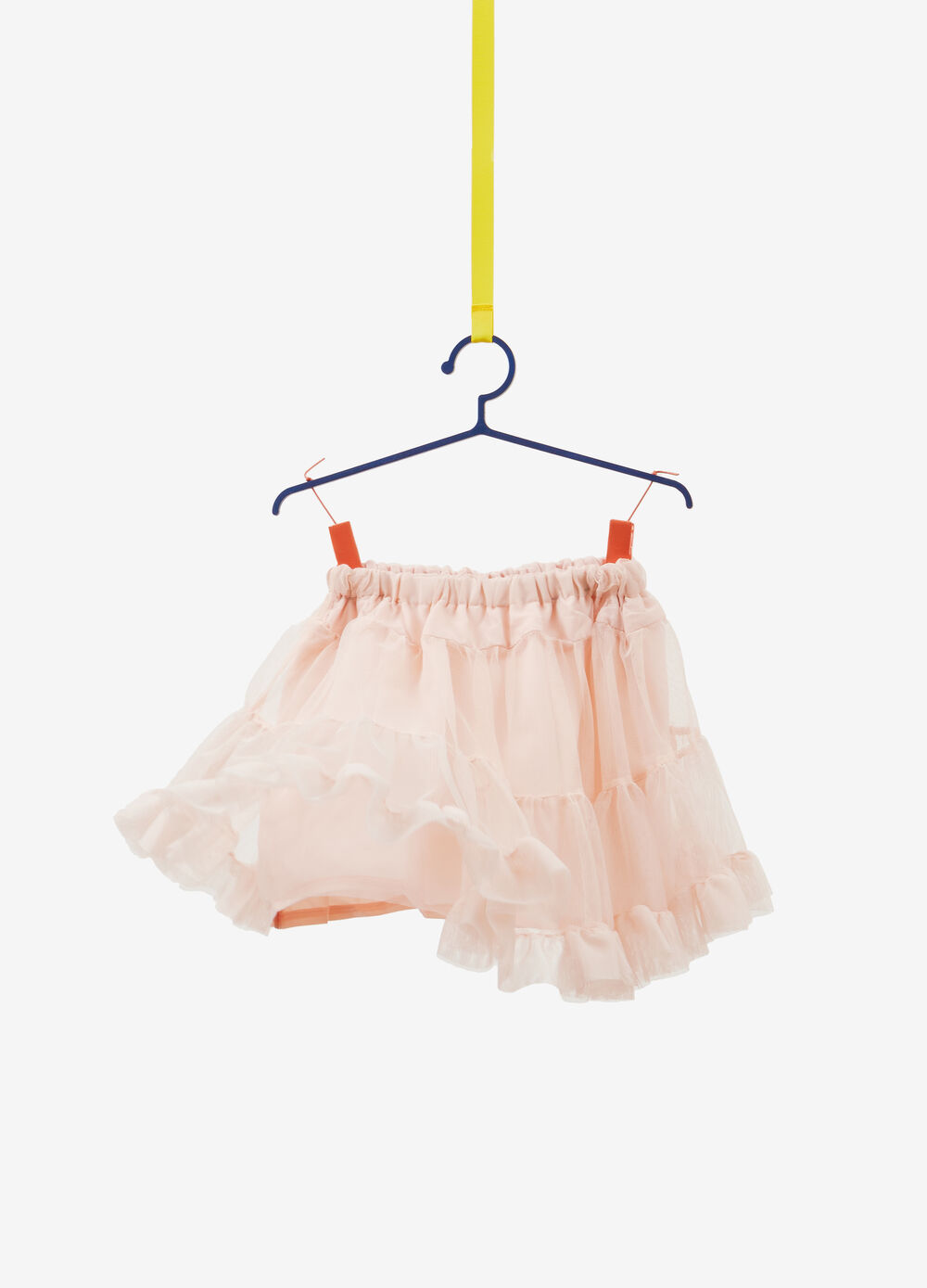 Skirt in tulle with flounce