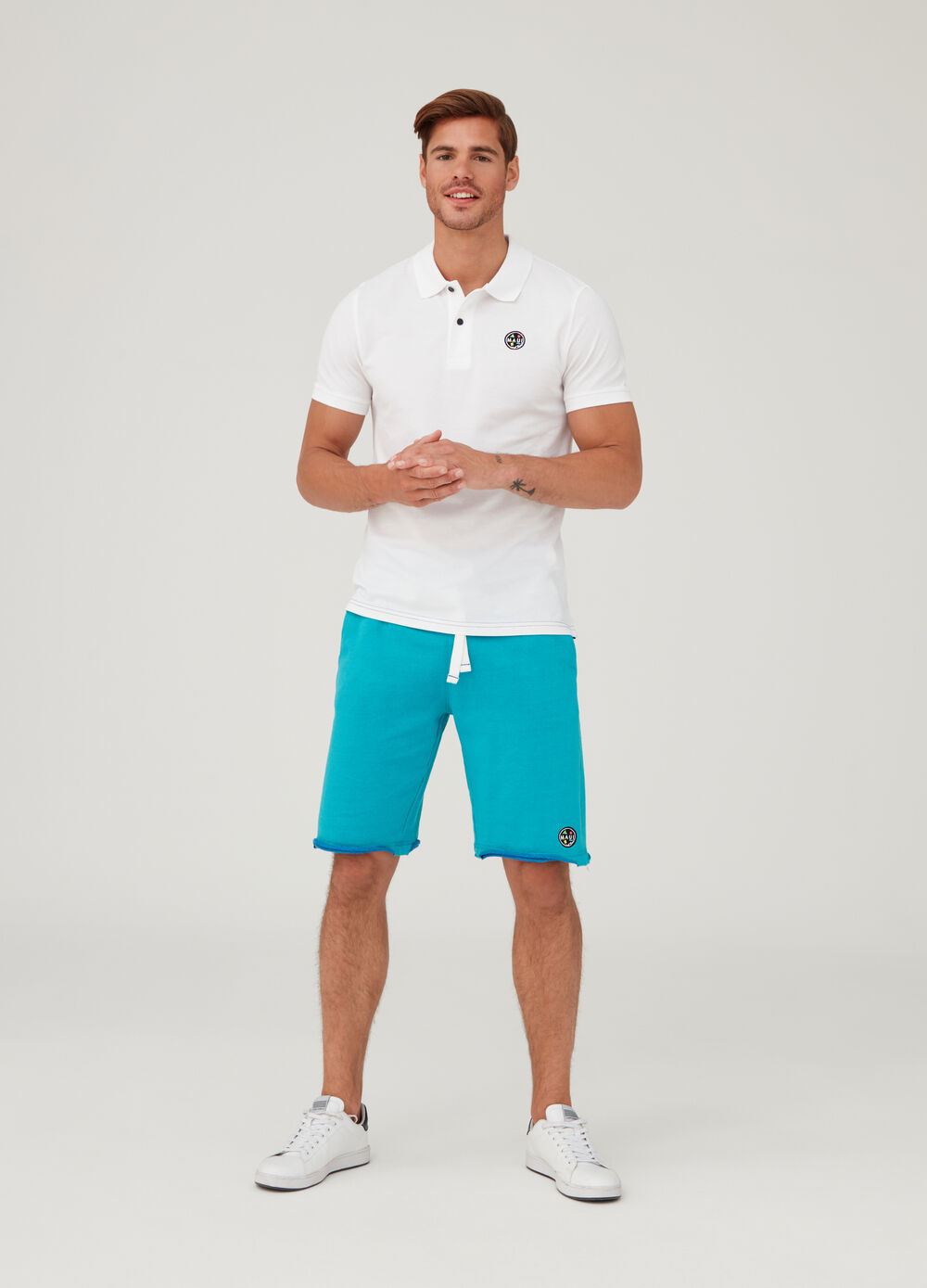 Solid colour cotton polo shirt by Maui and Sons