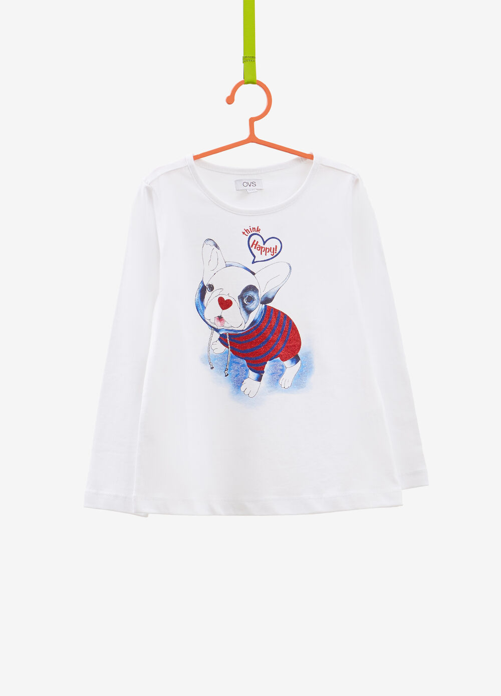 100% cotton T-shirt with puppy print