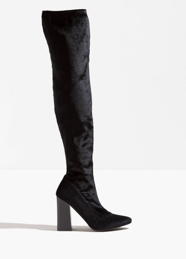 High boots with wide heel | OVS