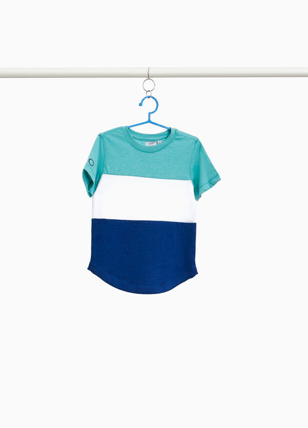 Striped T-shirt in cotton blend