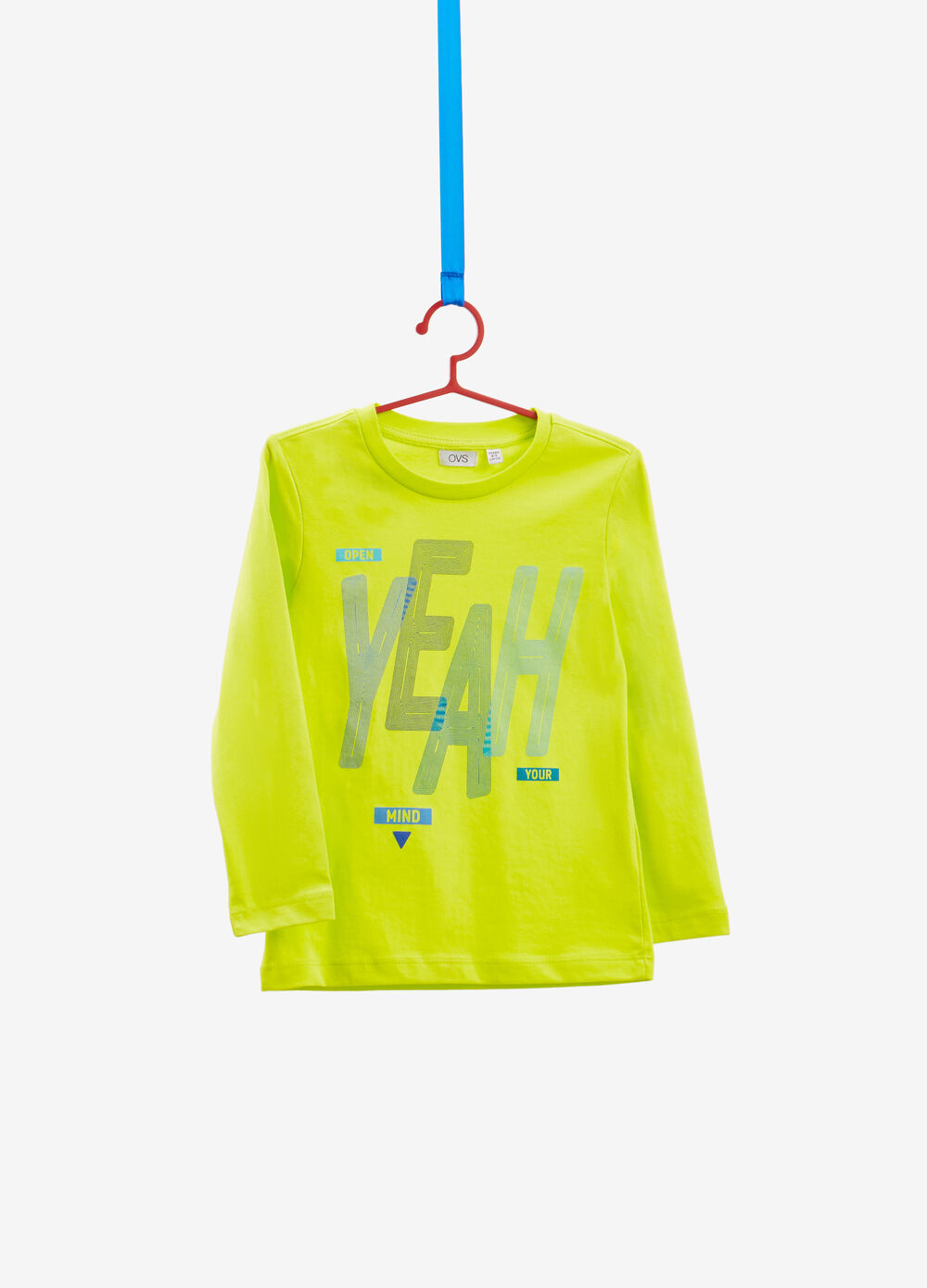 Long-sleeved cotton T-shirt with print
